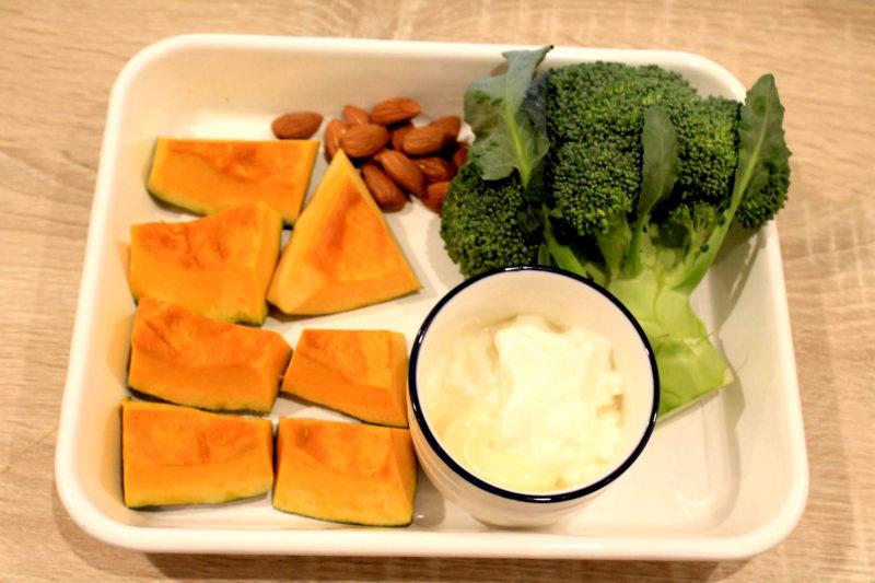 ブロッコリーとかぼちゃのヨーグルトサラダ-材料