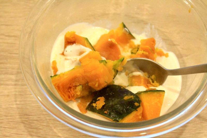 ブロッコリーとかぼちゃのヨーグルトサラダ④