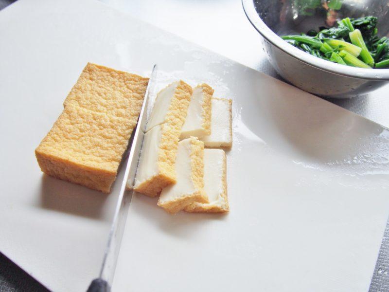牛肉と厚揚げのカレー炒め①