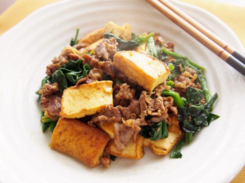牛肉と厚揚げのカレー炒め-完成