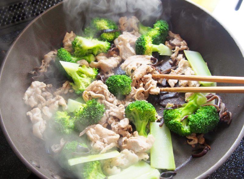 豚肉とブロッコリーの中華あんかけ②
