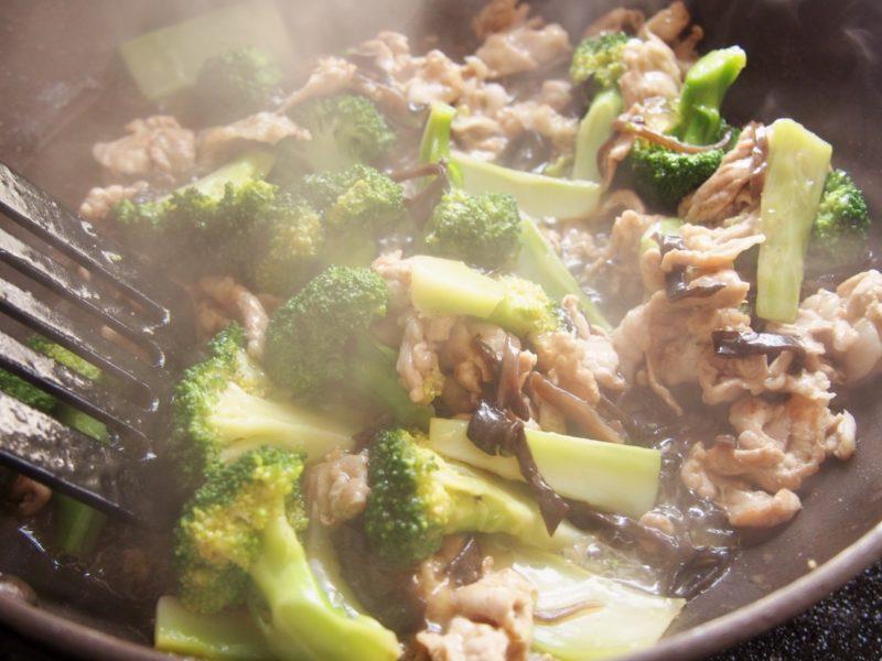 豚肉とブロッコリーの中華あんかけ③