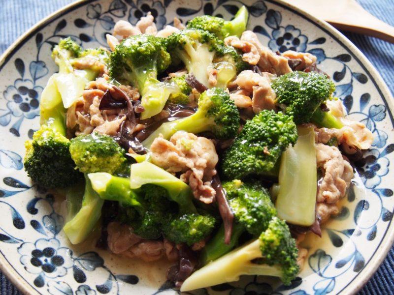 豚肉とブロッコリーの中華あんかけ-完成