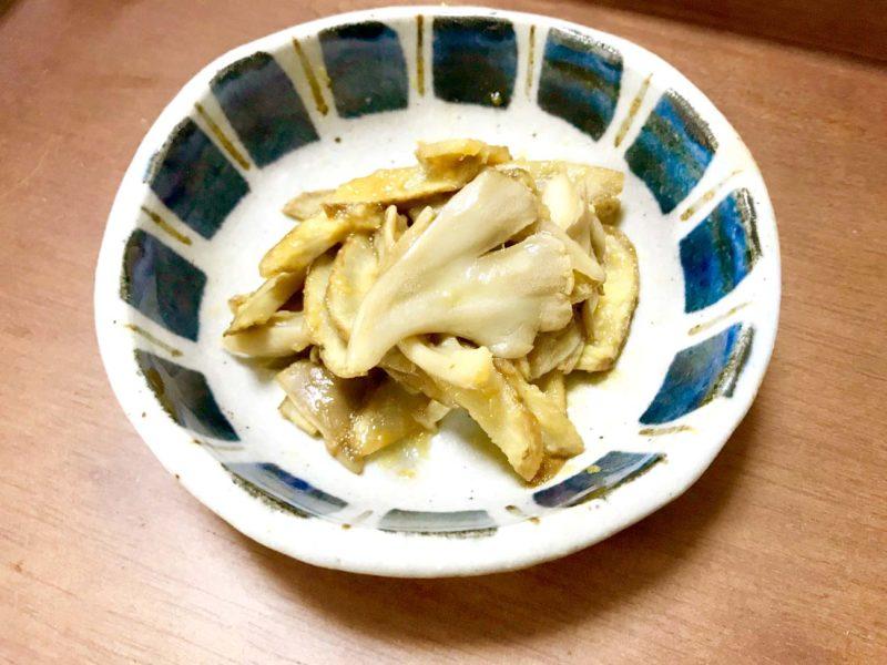 ごぼうと舞茸の生姜和え