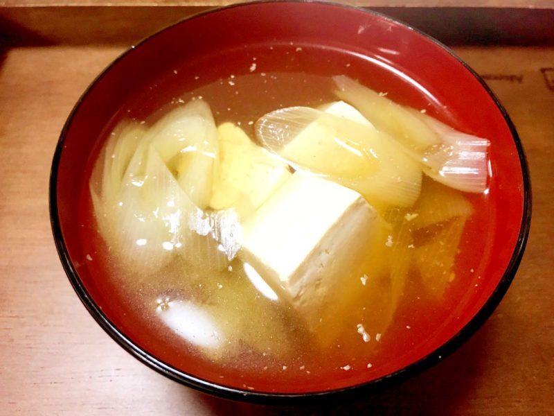ネギと鶏肉のごま生姜スープ