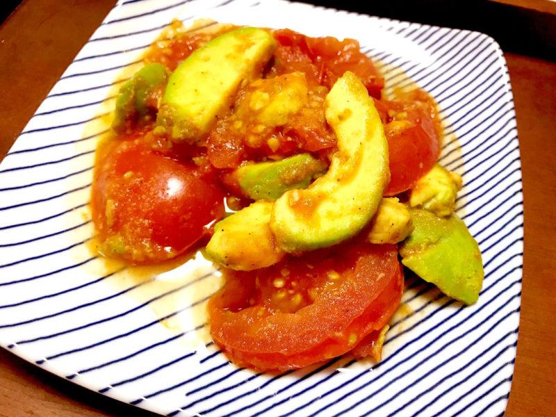 トマトとアボカドのさっぱりソテー