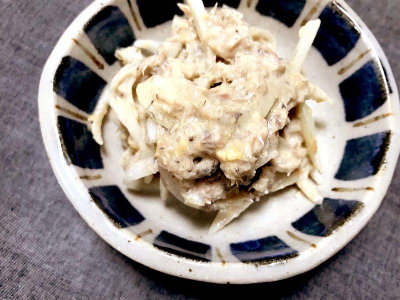 玉ねぎと鯖の味噌マヨ和え