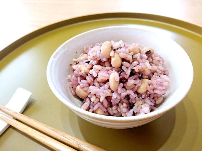 玄米黒米大豆ご飯(圧力鍋使用)