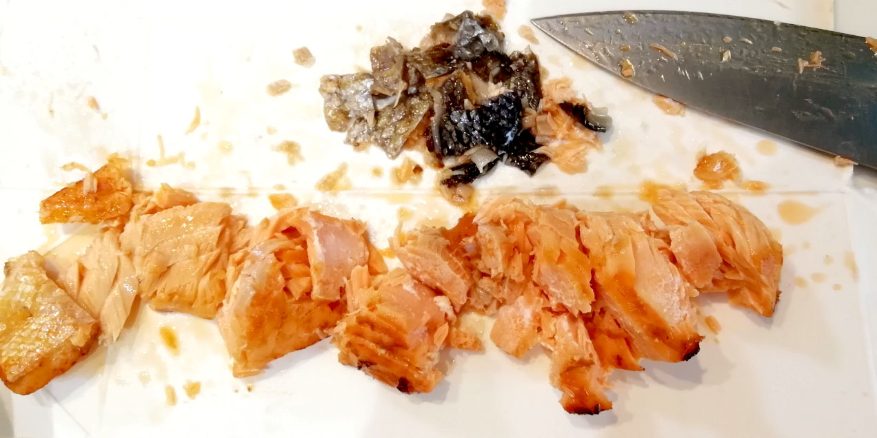 鮭とコーンの豆乳リゾット①