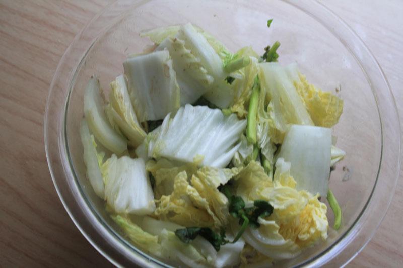 白菜と豚肉のレンジ蒸し⑥