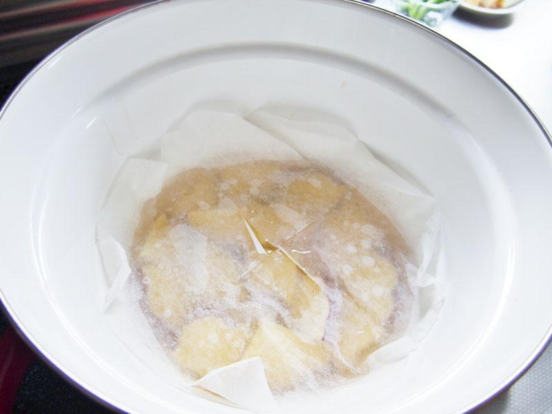 さつまいもと厚揚げの含め煮②