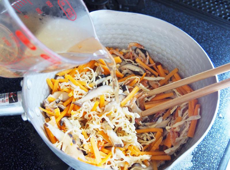 切り干し大根と干し椎茸の炒め煮②
