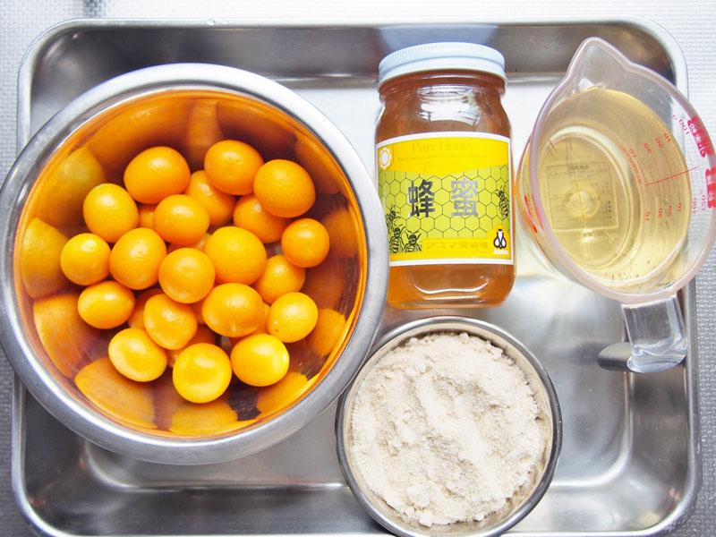 きんかんはちみつ酢-材料