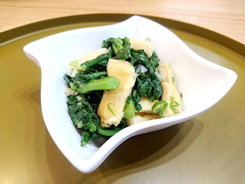 春菊と高野豆腐の中華炒め