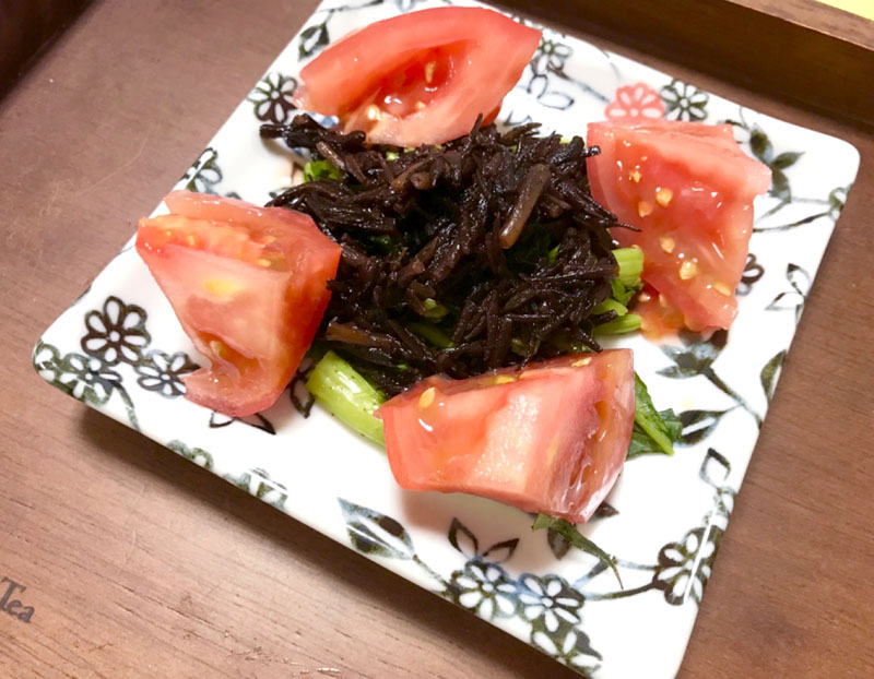 空心菜とひじきのサラダ