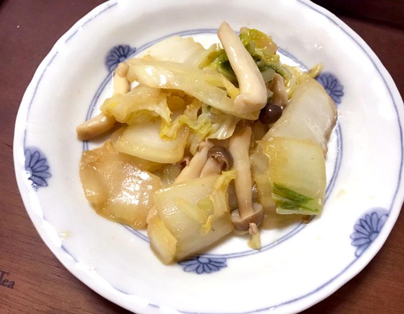 白菜ときのこのスタミナ炒め