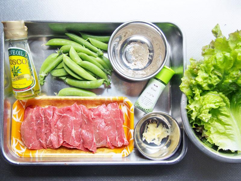 ラム肉のバジルソテー-材料
