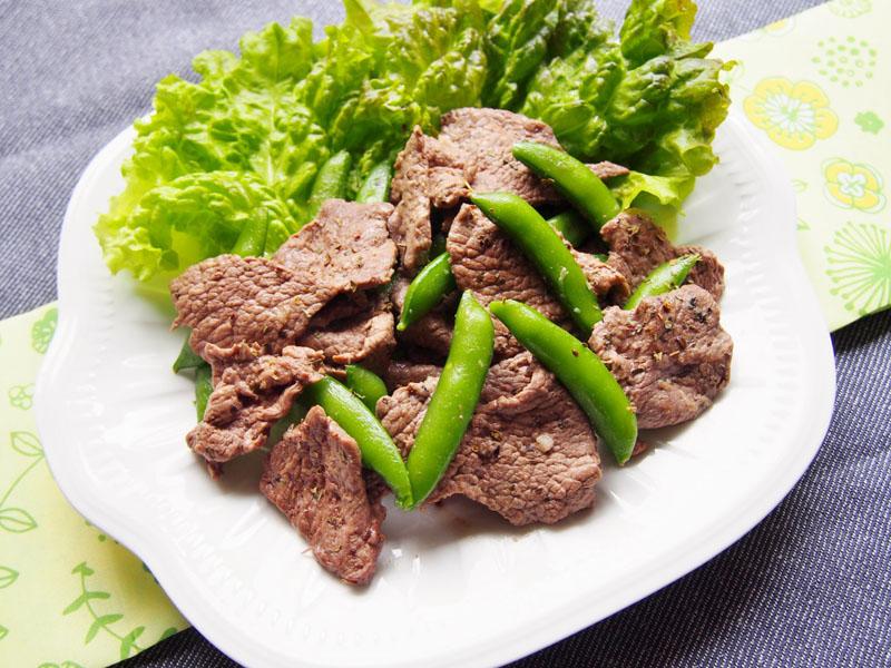 ラム肉のバジルソテー-完成