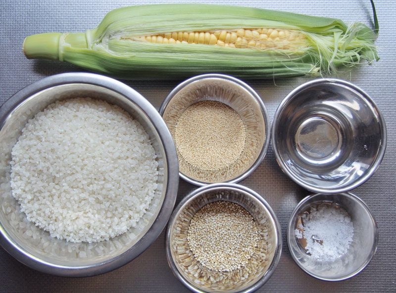 とうもろこし雑穀ごはん-材料